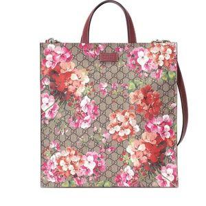 Gucci Soft Blooms Gg Supreme Canvas Tote